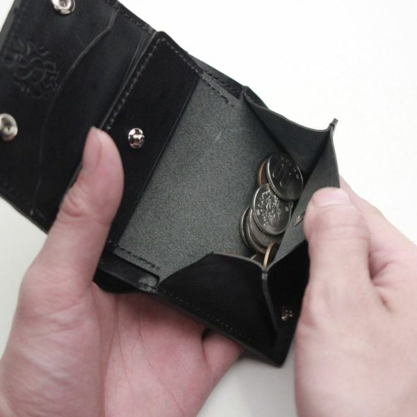 レザーブランドS'FACTORY スナップミニウォレット パイソン(ヘビ革)革財布