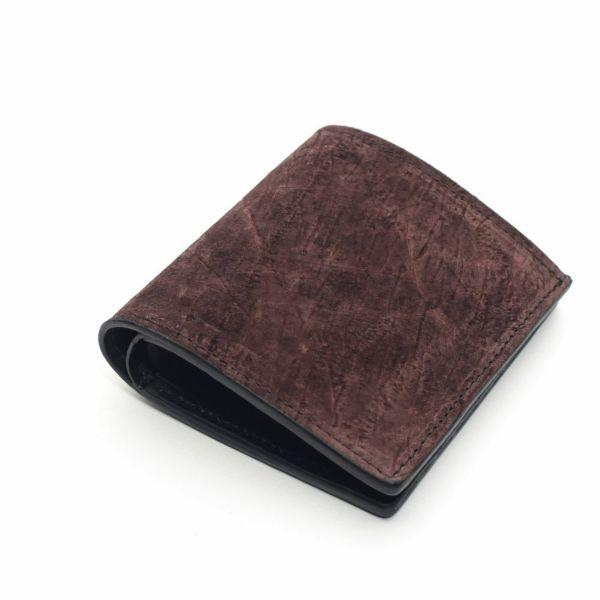 レザーブランドS'FACTORY スナップミニウォレット ヒポ ブラウン(カバ革)革財布