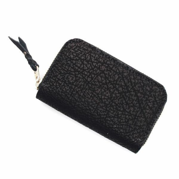 レザーブランドS'FACTORY ラウンドファスナーコインケース シャーク(サメ革)革小物 ミニ財布