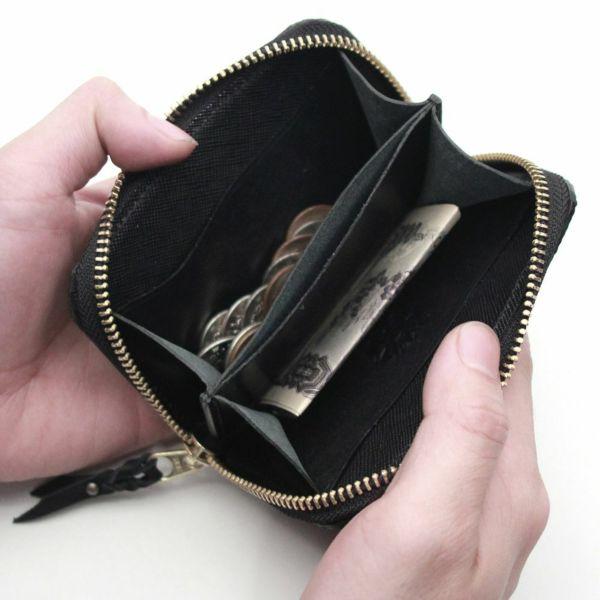 レザーブランドS'FACTORY ラウンドファスナーコインケース リザード(トカゲ革)革小物 ミニ財布