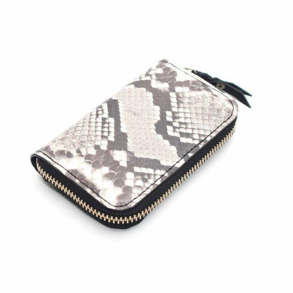レザーブランドS'FACTORY ラウンドファスナーコインケース パイソン(ヘビ革)革小物 ミニ財布