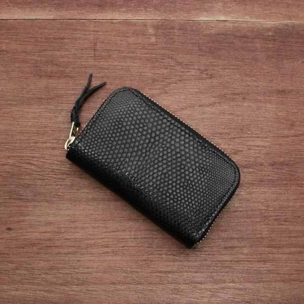 レザーブランドS'FACTORY ラウンドファスナーキーケース リザード(トカゲ革) 革小物