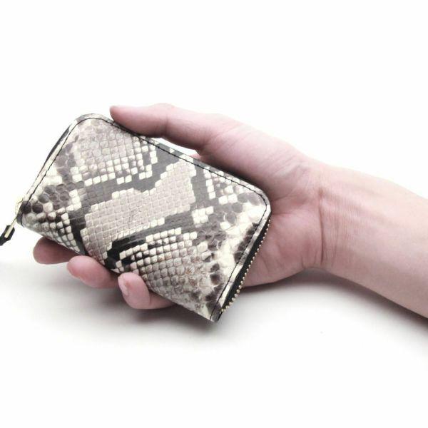 レザーブランドS'FACTORY ラウンドファスナーキーケース パイソン(ヘビ革) 革小物