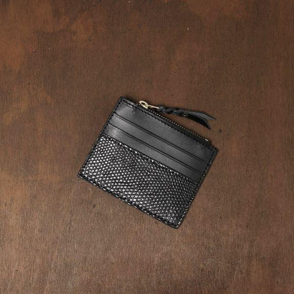 レザーブランドS'FACTORY カードマネークリップ リザード(トカゲ革)革小物 パスケース