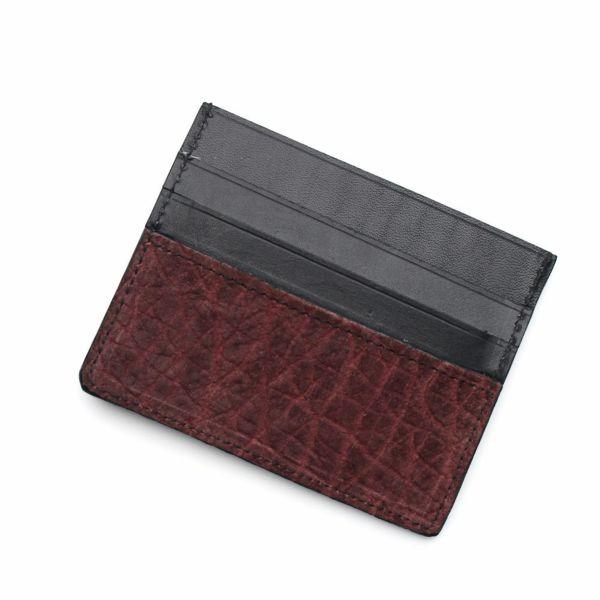 レザーブランドS'FACTORY カードマネークリップ ヒポ ボルドー(カバ革)革小物 パスケース