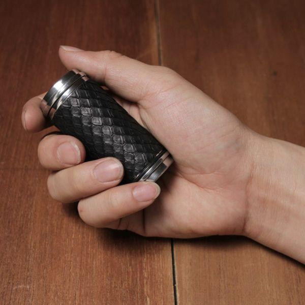 レザーブランドS'FACTORY 携帯灰皿 ヘビ革(パイソン)