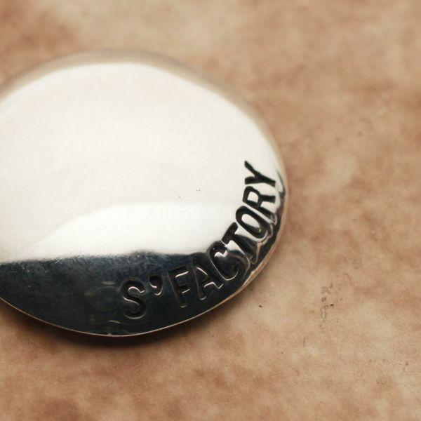 メンズ レザーブランドSALE S'FACTORY プレーン コンチョ Silver925