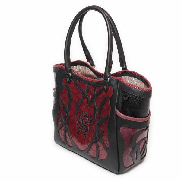 レザーブランドSIXTHSENSE トートバッグ レッド センザンコウ 赤い メンズ 革カバン