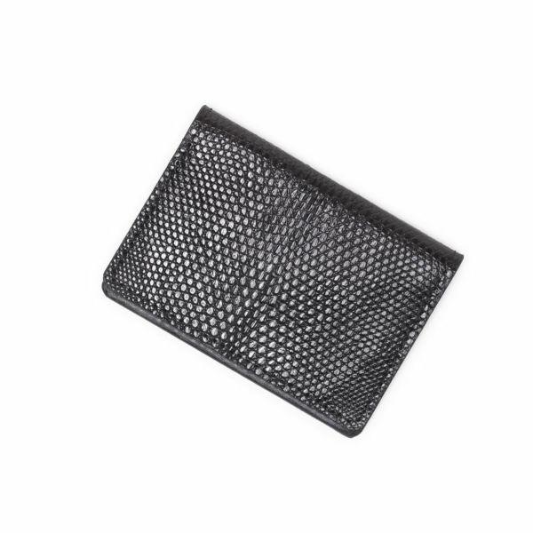 レザーブランドS'FACTORY ポケットカードケース リザード(トカゲ革) 革小物 名刺入れ パスケース 本革