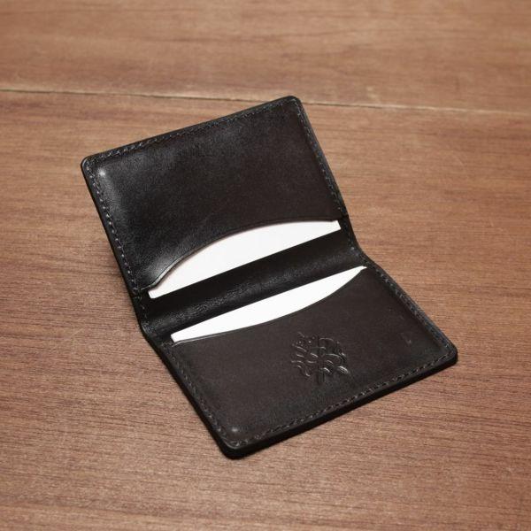 レザーブランドS'FACTORY ポケットカードケース ヒポ ブラウン(カバ革) 革小物 名刺入れ パスケース 本革