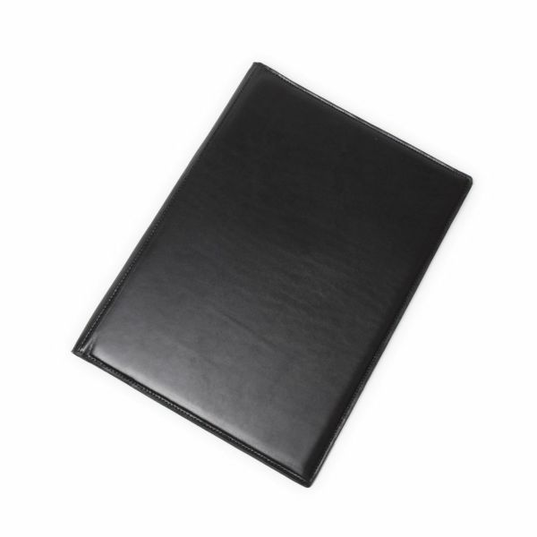 レザーブランドS'FACTORY A4 レザーバインダー カウレザー ブラック(牛革)本革 ステーショナリー