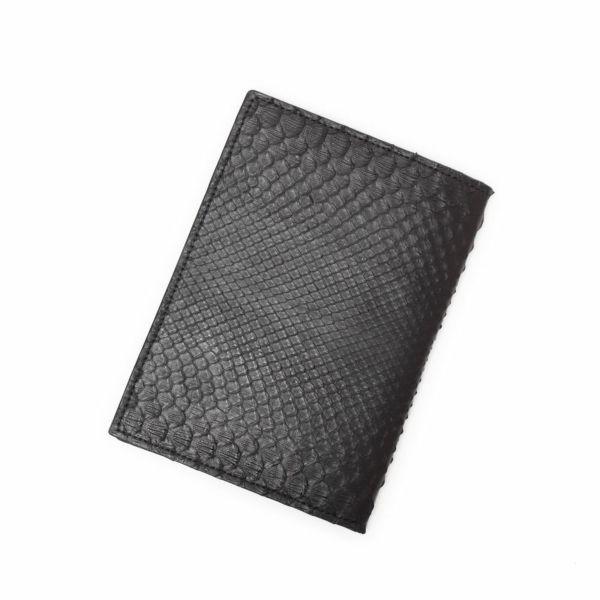 レザーブランドS'FACTORY レザーブックカバー 文庫本サイズ ブラックパイソン(ヘビ革) 本革