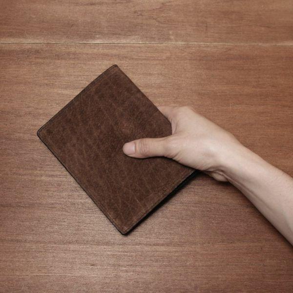 レザーブランドS'FACTORY レザーブックカバー 文庫本サイズ ヒポ ブラウン(カバ革) 本革