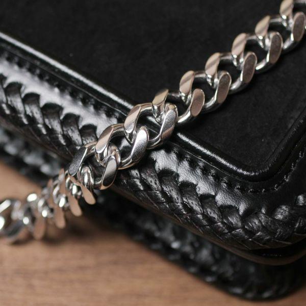 ウォレット チェーン 真鍮 ブラス シルバー メンズ 鎖
