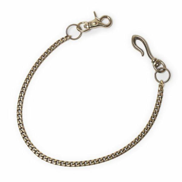 ウォレット チェーン 真鍮 ブラス ゴールド 細い メンズ 鎖