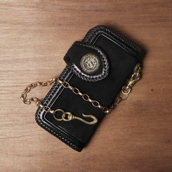 真鍮,ウォレットチェーン,長甲丸あずき,財布,ゴールド,シルバー,ブラス,ショート,短い