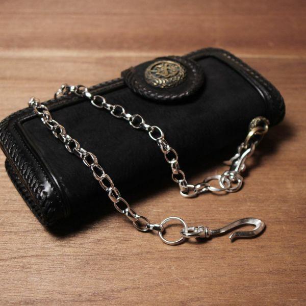 ウォレット チェーン 真鍮 ブラス シルバー 細い メンズ 鎖