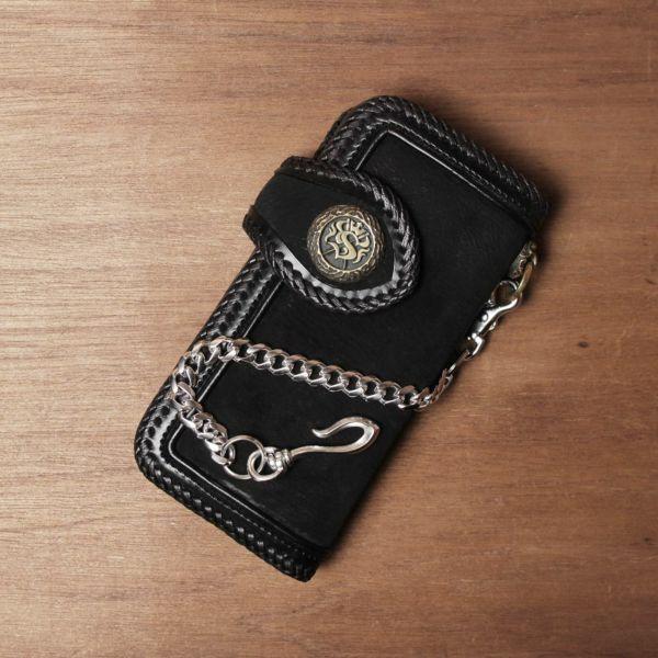 ショート ウォレット チェーン 真鍮 ブラス シルバー 細い 短い メンズ 鎖