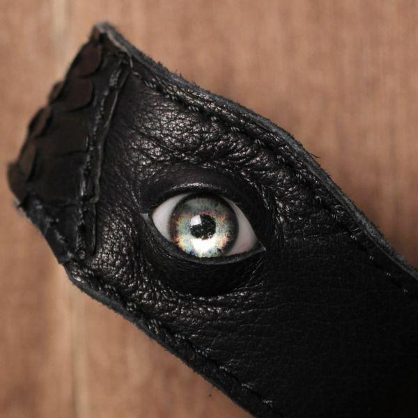 義眼,ヘビ,ブレスレット,レザー,革,ゴシック,アクセサリー,黒,ブラック,GOREGRO,ハロウィン