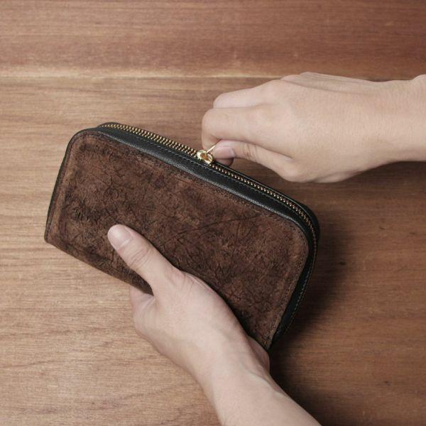 カバ革,ヒポ,財布,ファスナーウォレット,レザー,革