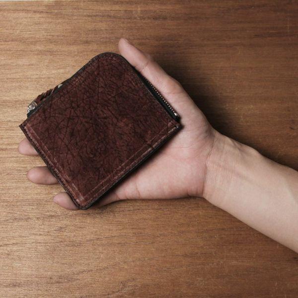 コインケース,L字,小銭入れ,レザー,革,小物,メンズ,カバ革,ヒポ