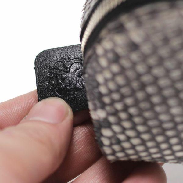 レザーブランドS'FACTORY「 三角 ペンケース パイソン(ヘビ革)」商品画像