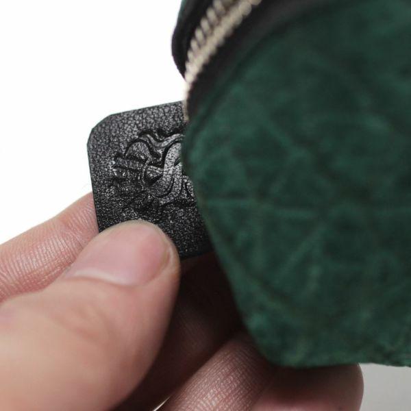 レザーブランドS'FACTORY「 三角 ペンケース ヒポ グリーン(カバ革)」商品画像