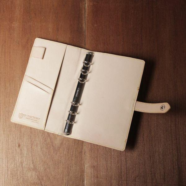 レザーブランドS'FACTORY「 システム手帳 バイブルサイズ 栃木レザー ナチュラル(牛革)」商品画像
