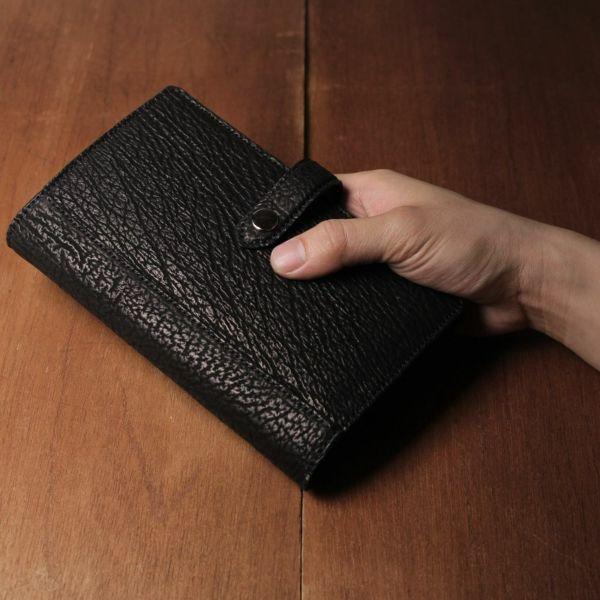 レザーブランドS'FACTORY「 システム手帳 バイブルサイズ シャーク(サメ革)」商品画像
