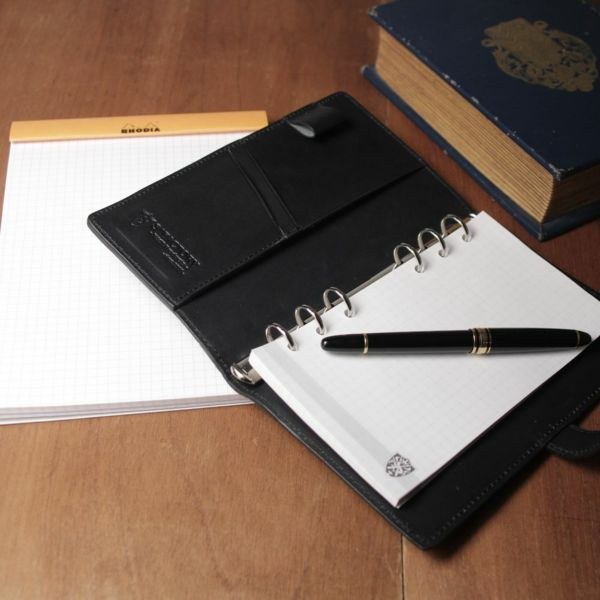 レザーブランドS'FACTORY「 システム手帳 バイブルサイズ ヒポ グリーン(カバ革)」商品画像