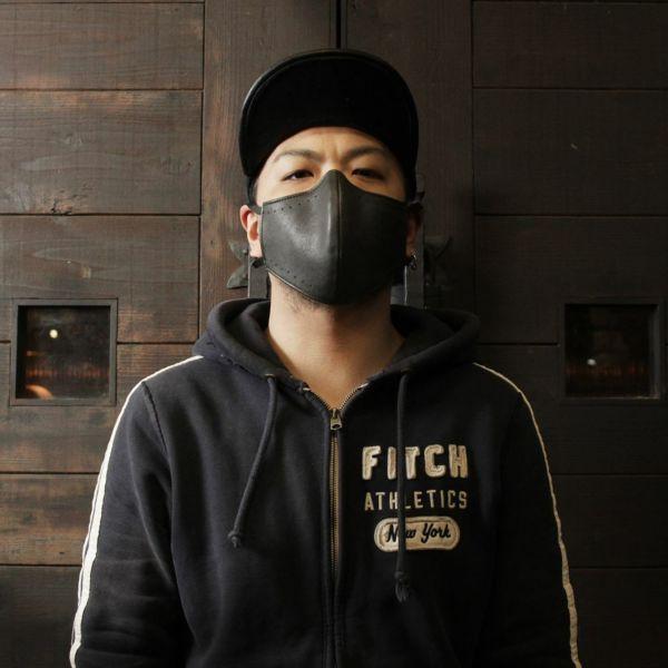 レザーブランドS'FACTORY「レザーカラスマスク ゴート ブラック」商品画像