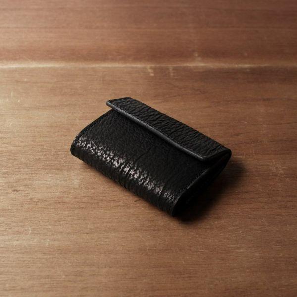 レザーブランドS'FACTORY「三つ折りミニウォレット シャーク(サメ革)」商品画像