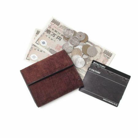 S'FACTORY(エスファクトリー)「三つ折りミニウォレット ヒポ レッドブラウン(カバ革)」商品画像