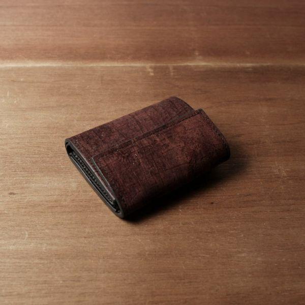 レザーブランドS'FACTORY「三つ折りミニウォレット ヒポ レッドブラウン(カバ革)」商品画像