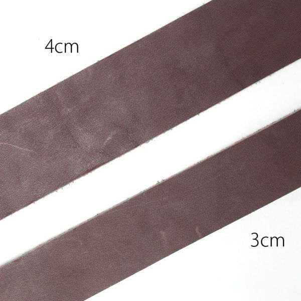 レザーブランドS'FACTORY「栃木レザー ジェムストーンベルト 4cm幅 カウレザー ブラウン(牛革)」商品画像
