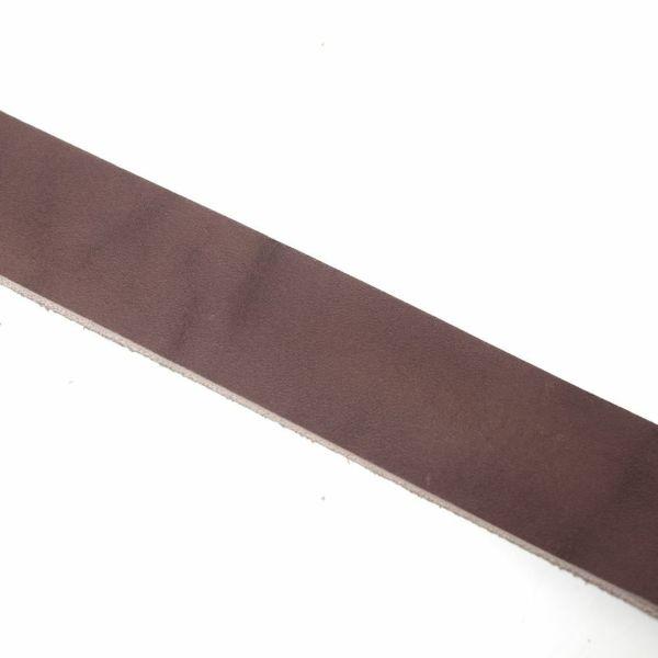 レザーブランドS'FACTORY「栃木レザー ジェムストーンベルト 3cm幅 カウレザー ブラウン(牛革)」商品画像