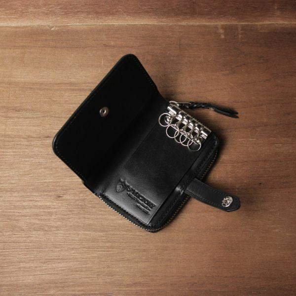 レザーブランドS'FACTORY「ファスナーキーウォレット 栃木レザー ブラック(牛革)」商品画像