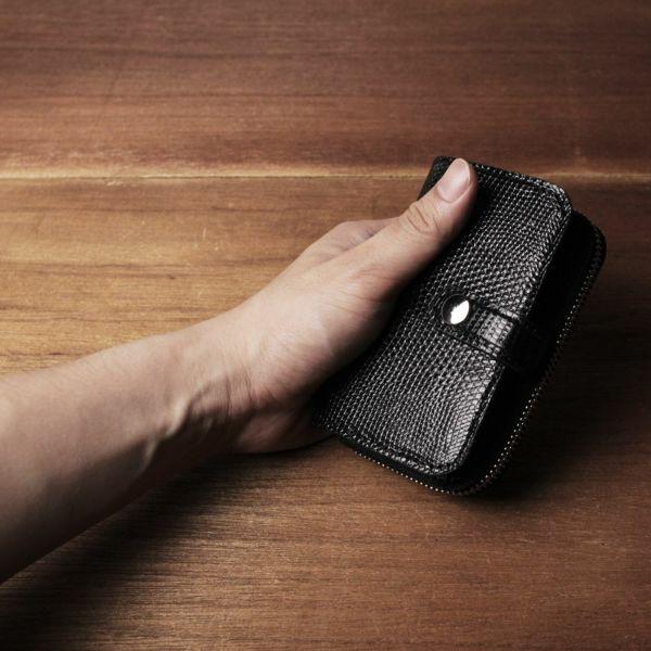 レザーブランドS'FACTORY「ファスナーキーウォレット リザード(トカゲ革)」商品画像