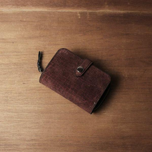 レザーブランドS'FACTORY「ファスナーキーウォレット ヒポ レッドブラウン(カバ革)」商品画像