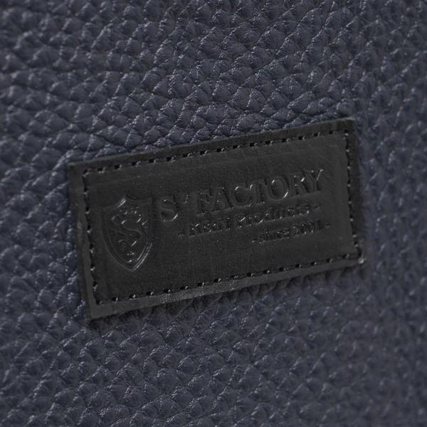 レザーブランドS'FACTORY「BURNOUTシンプルトート バッグ カウレザー ネイビー(牛革)」商品画像