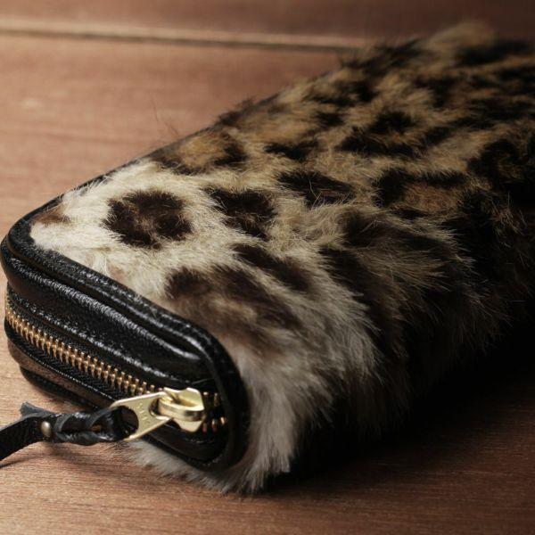 レザーブランド S'FACTORY「プレミアムウォレット レオパード(ヒョウ毛皮)」商品画像
