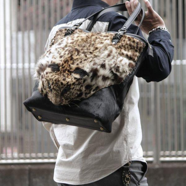 ヒョウの頭 トートバッグ(レオパード)