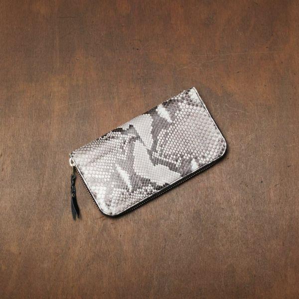 レザーブランドS'FACTORY「スリムファスナー ロング ウォレット パイソン(ヘビ革)」商品画像