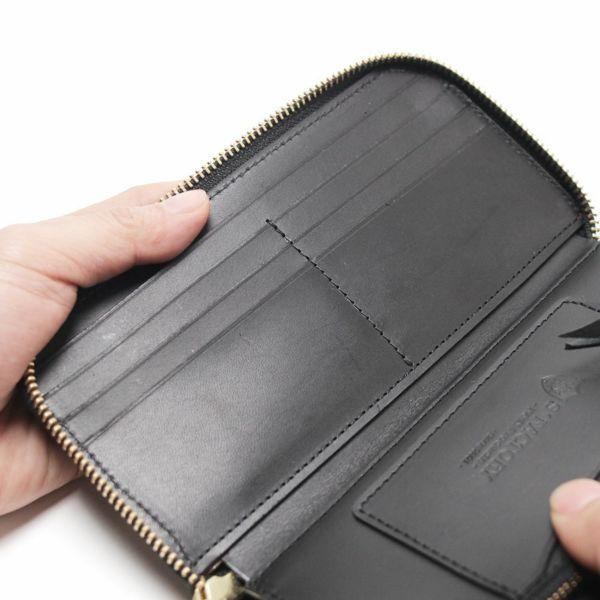 レザーブランドS'FACTORY「スリムファスナー ロング ウォレット エレファント ブラック(ゾウ革)」商品画像