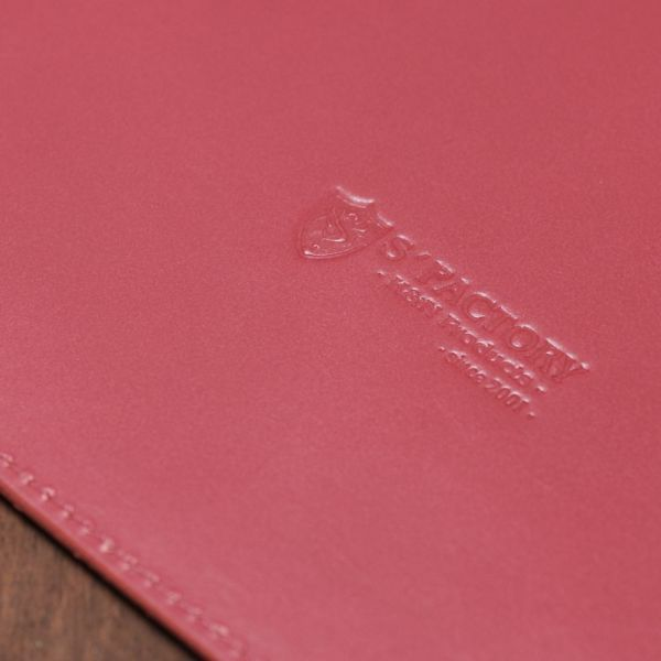 S'FACTORY「A4 シングル レザーバインダー レッド(牛革)」商品画像