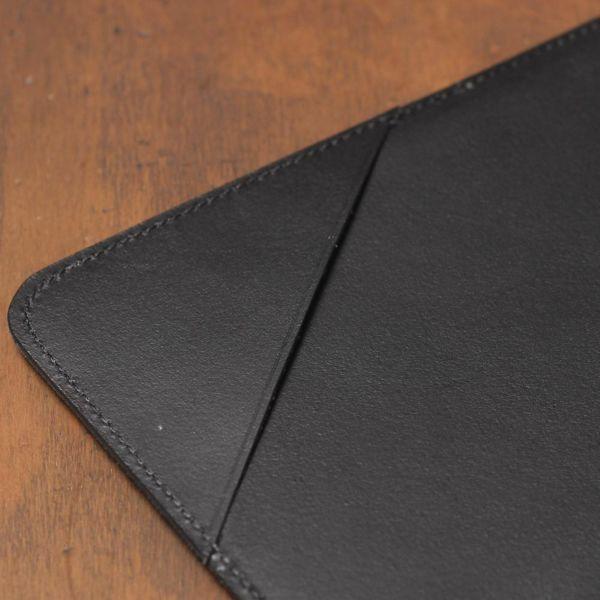 S'FACTORY「伝票サイズ レザーバインダー ブラック(牛革)」商品画像